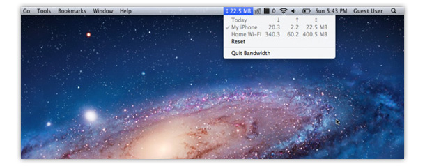 Bandwidth+ ui