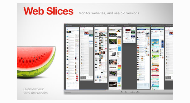 Web Slices ui